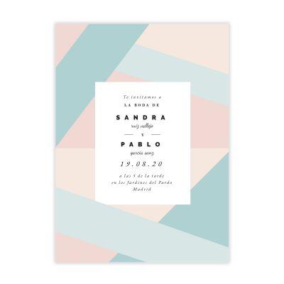 Invitación boda Paris Rosa