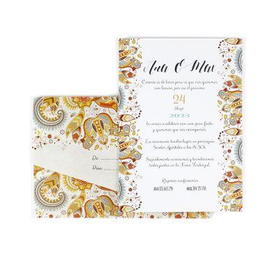 Invitación boda rainbow