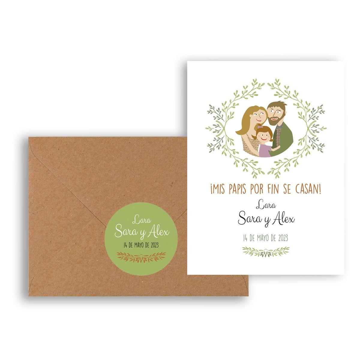 Invitación boda Family