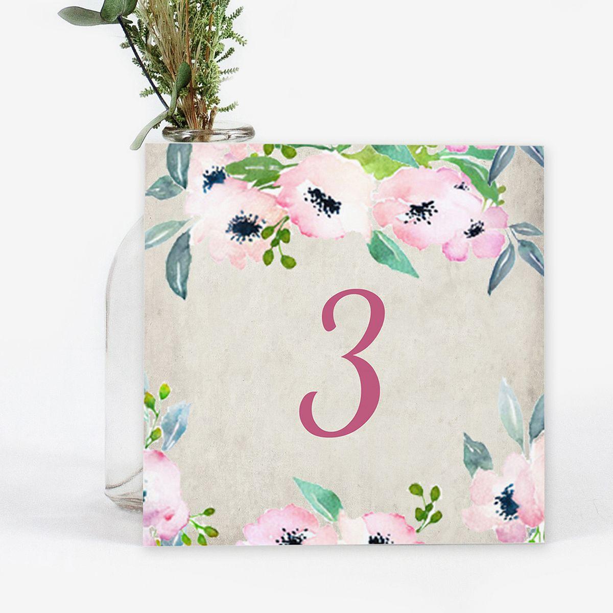 Número mesa boda Bliss