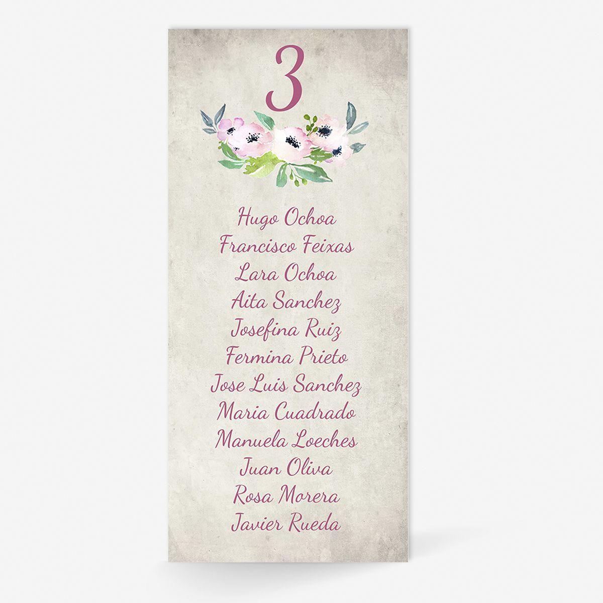 Plan de mesa (Seating plan) boda Bliss