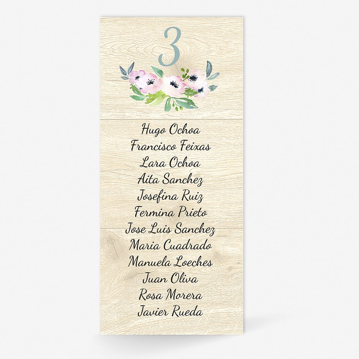 Plan de mesa (Seating plan) boda Roma