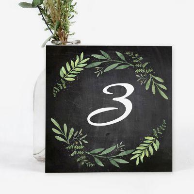 Número mesa boda Olivo Chalk
