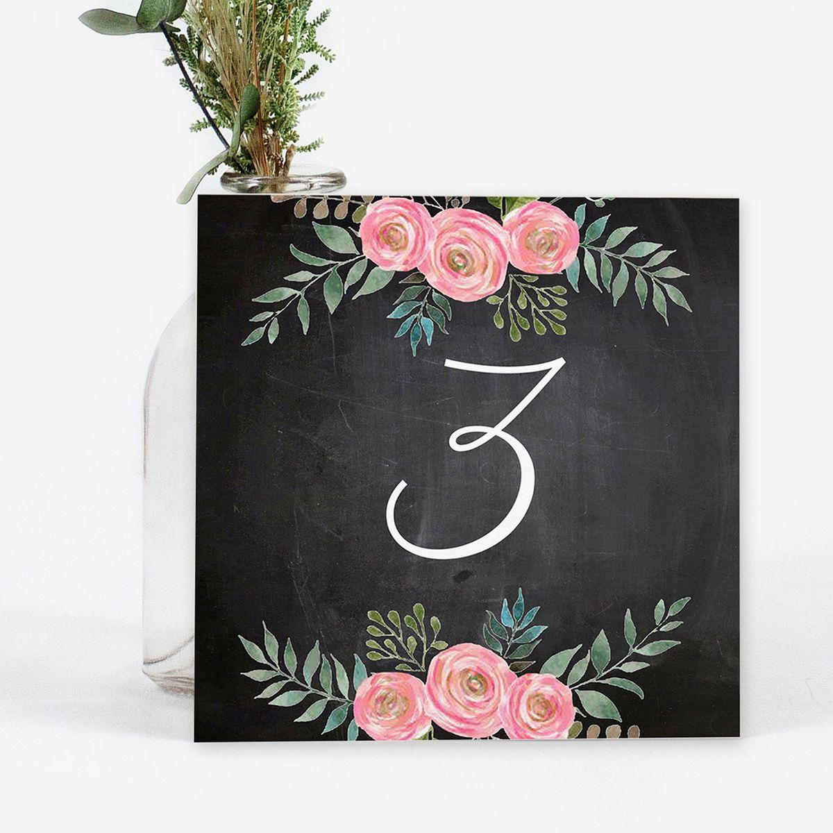 Número mesa boda Serena Chalk