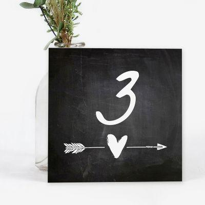 Número mesa boda Chalk Heart