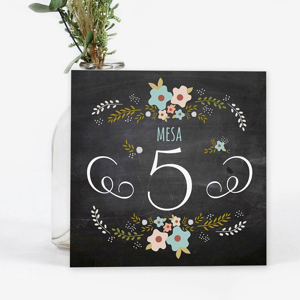 Número mesa boda Chalk Blue