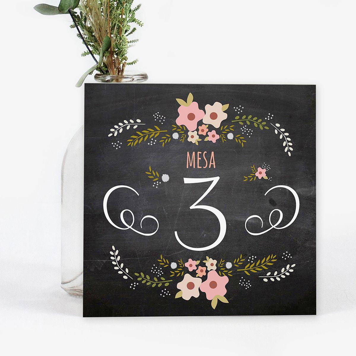 Número mesa boda Chalk Rose