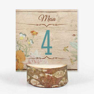 Número mesa boda Canna Love Wood