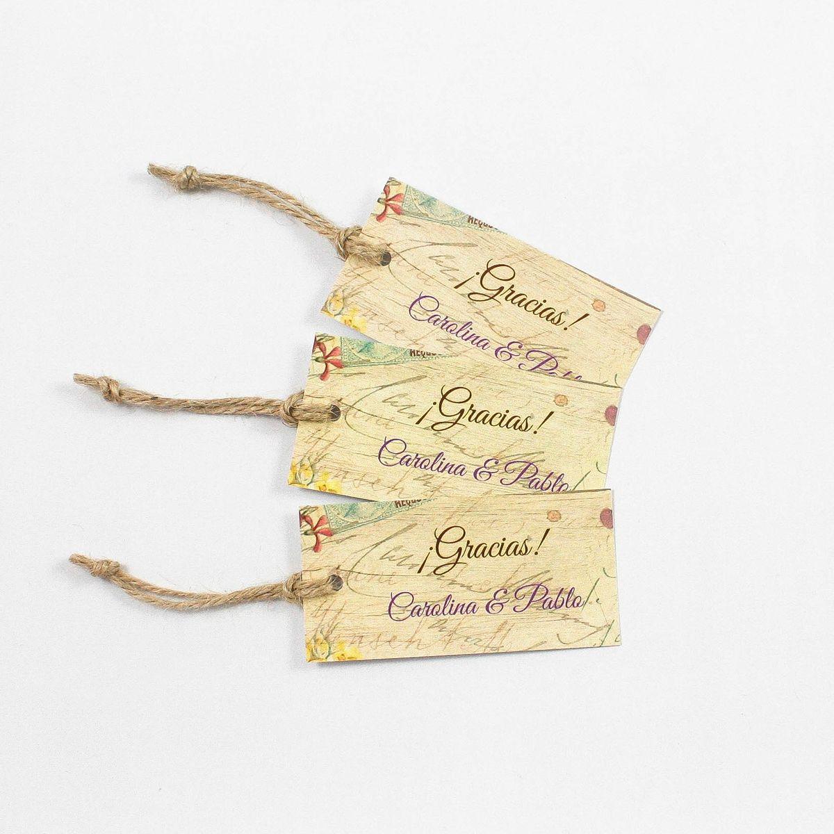 Etiqueta boda Canna Mail Wood