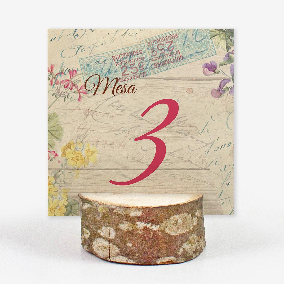 Número mesa boda Canna Mail Wood