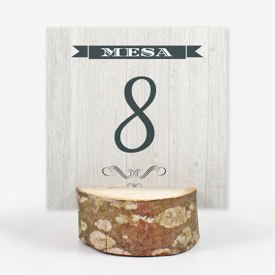 Número mesa boda Western Love