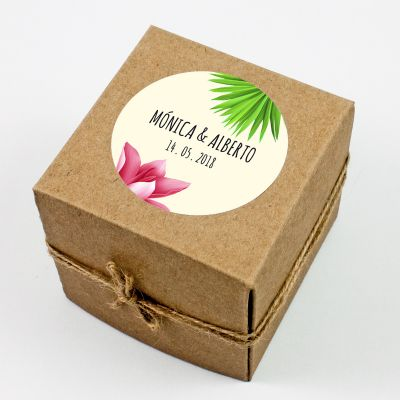 Adhesivo boda Tropical Chalk