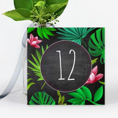 Número mesa boda Tropical Chalk