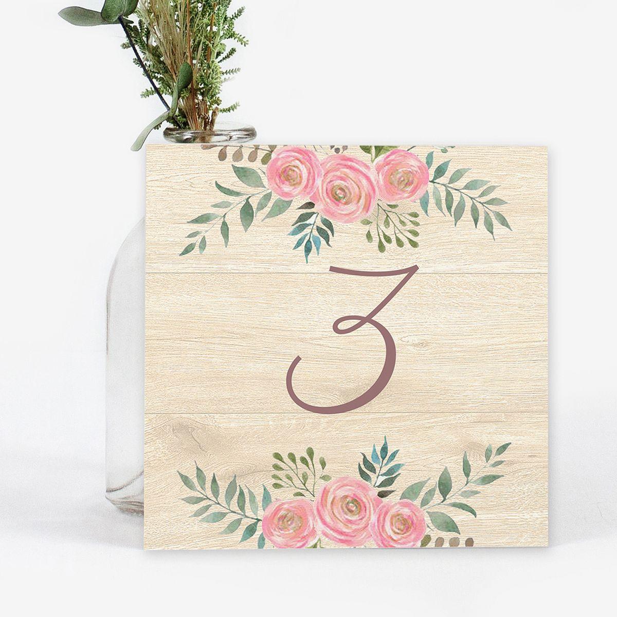 Número mesa boda Serena Wood