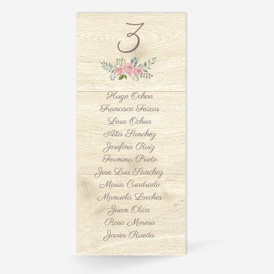 Plan de mesa (Seating plan) boda Serena Wood