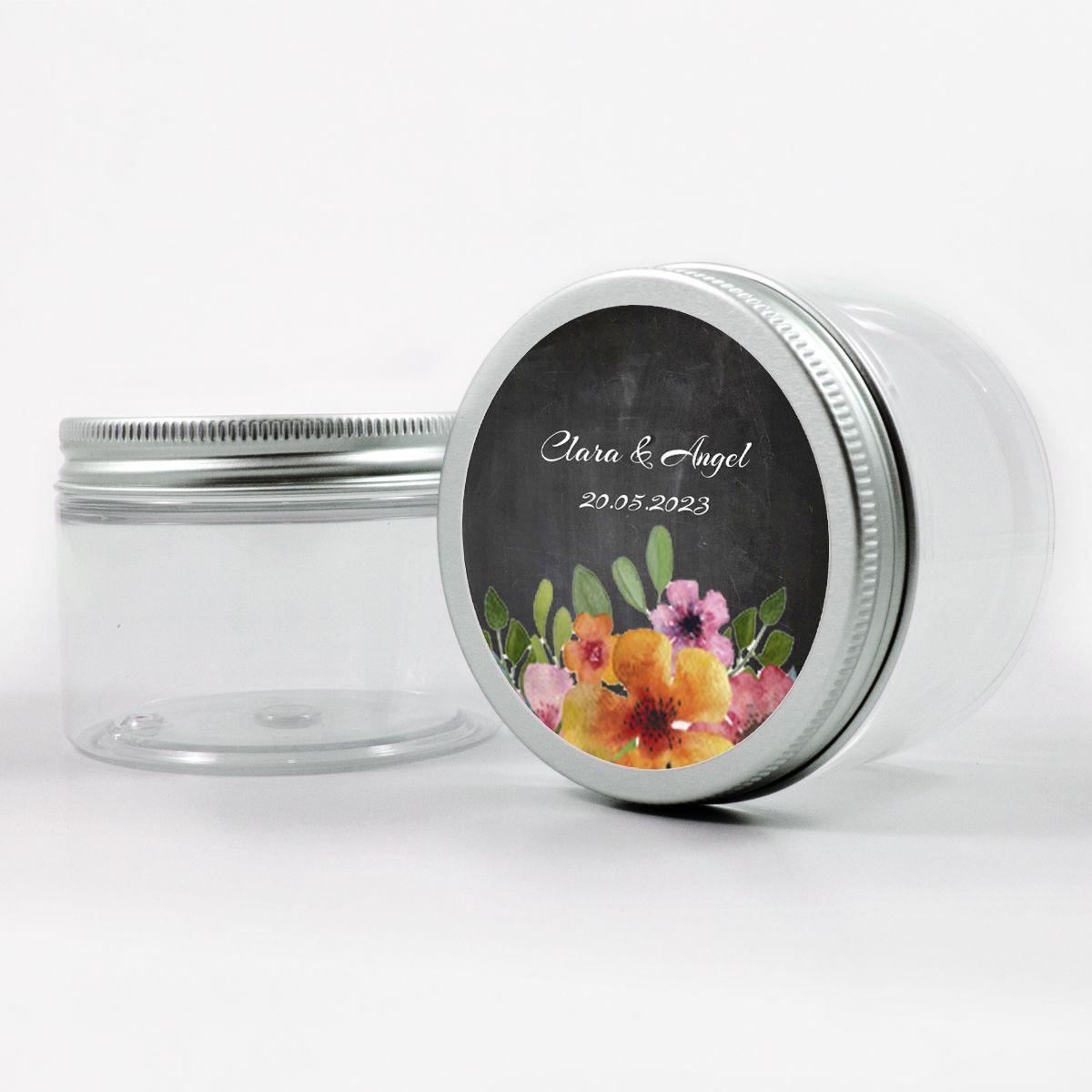 Adhesivo boda Floweret Chalk