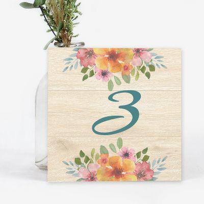 Número mesa boda Floweret wood