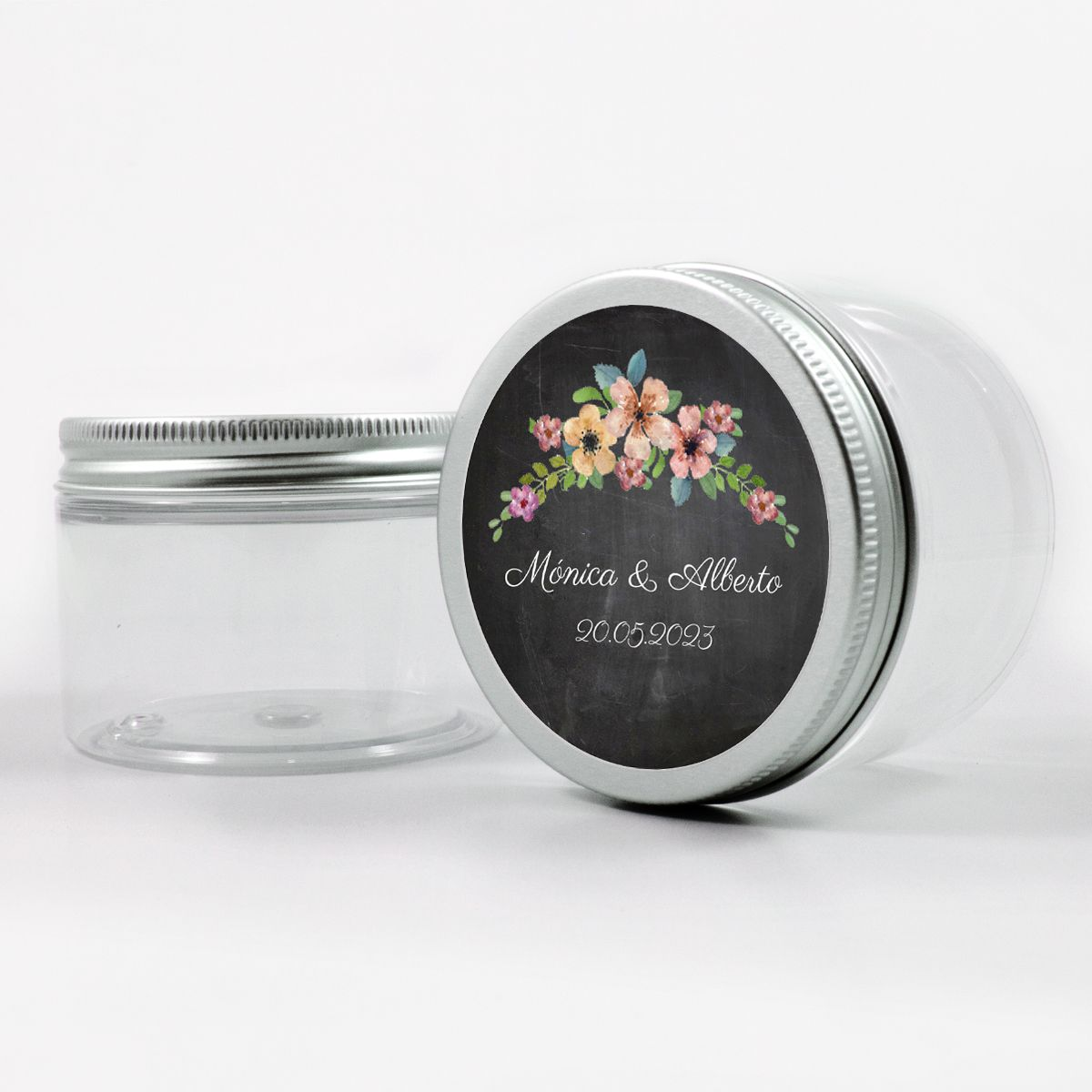 Adhesivo boda wildflowers chalk