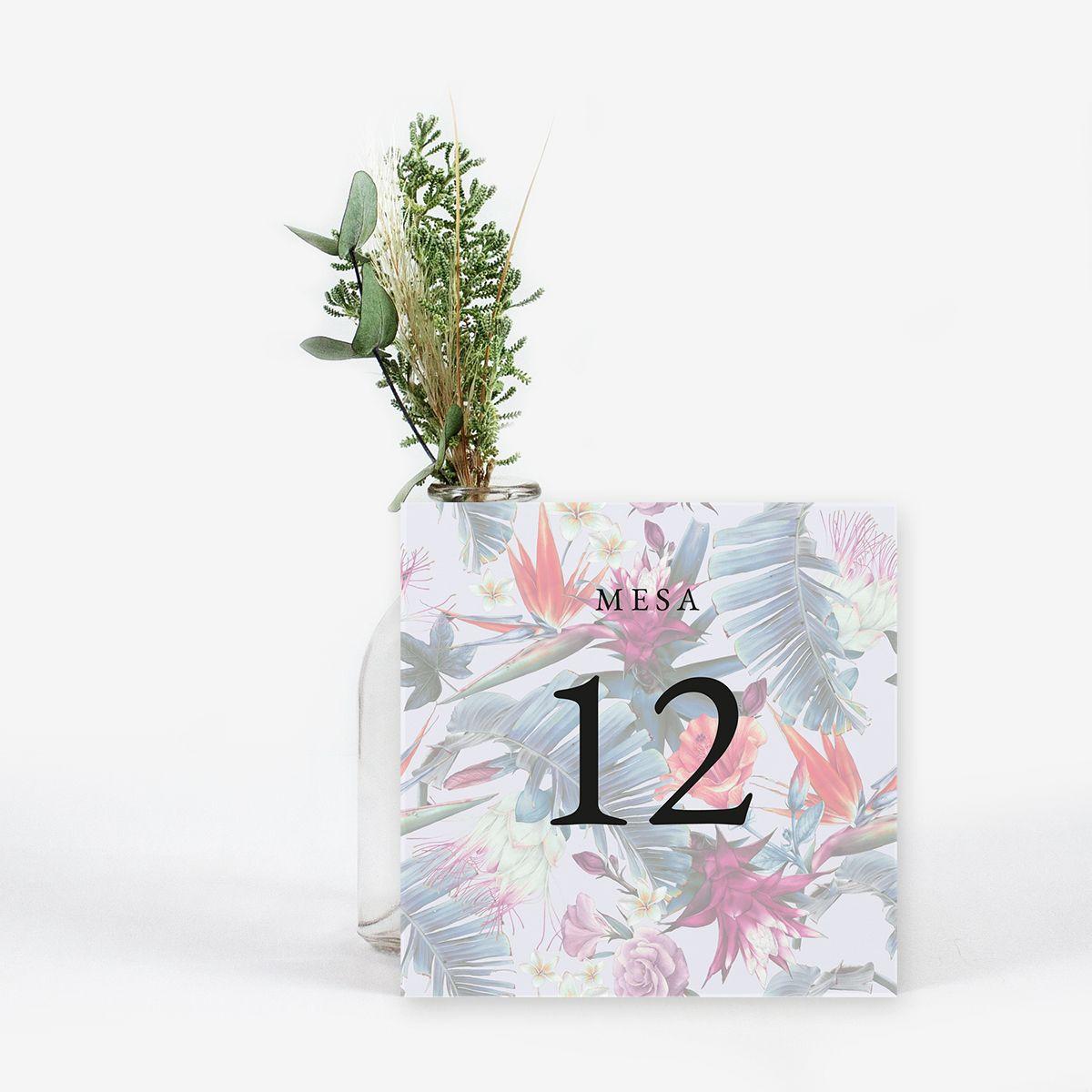 Número mesa boda Mohana