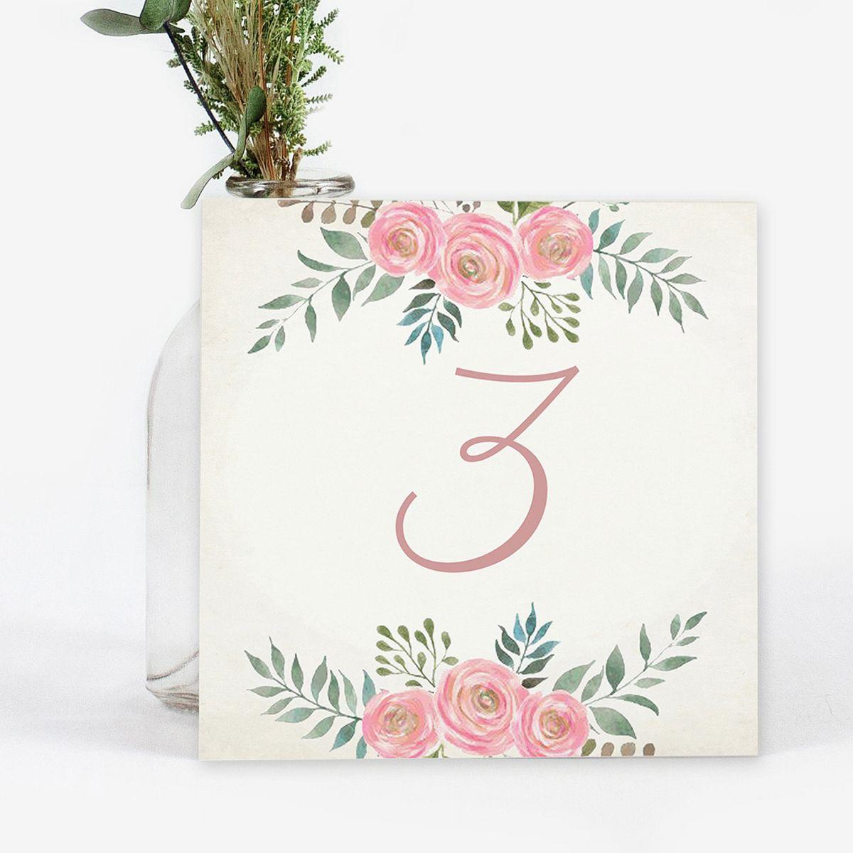 Número mesa boda Serena Vintage