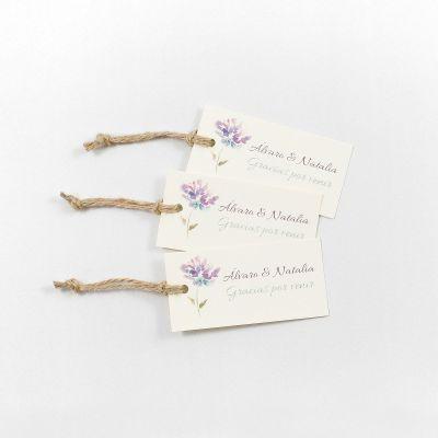 Etiqueta boda Aguazul