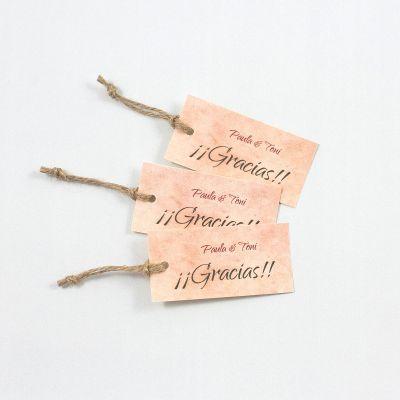 Etiqueta boda Aguarosa