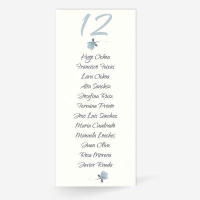 Plan de mesa (Seating plan) boda Tintanuez