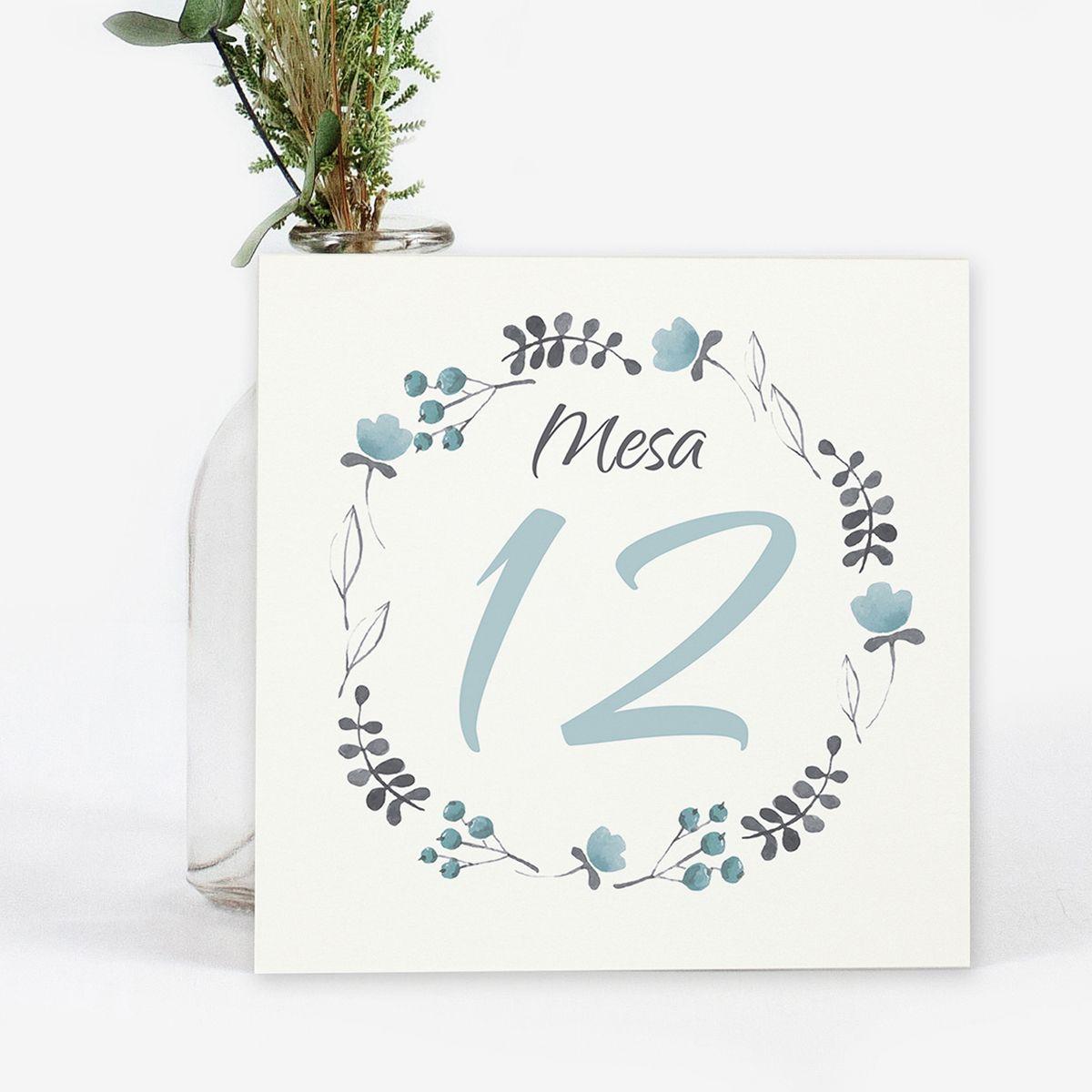 Número mesa boda Tintanuez