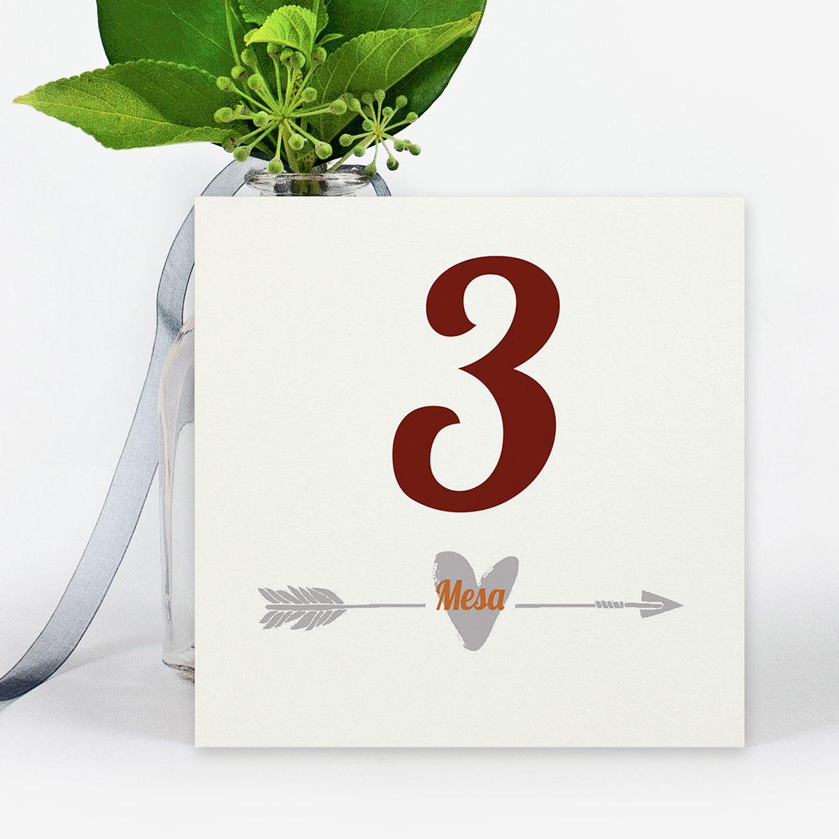 Número mesa boda Miss Love