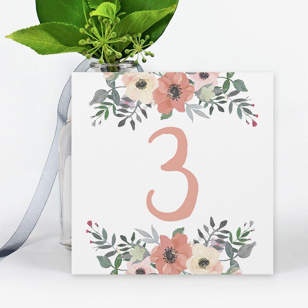 Número mesa boda Liza