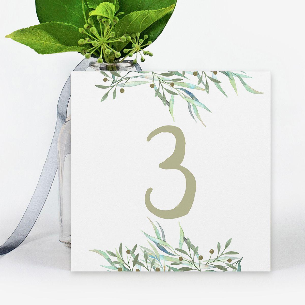 Número mesa boda Nara
