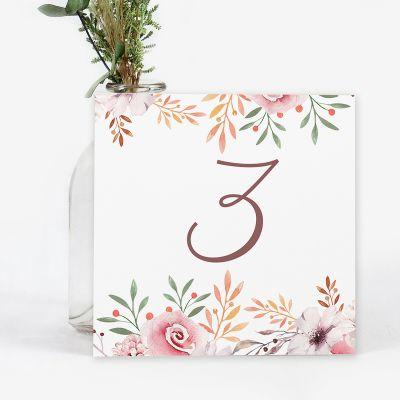 Número mesa boda Winona
