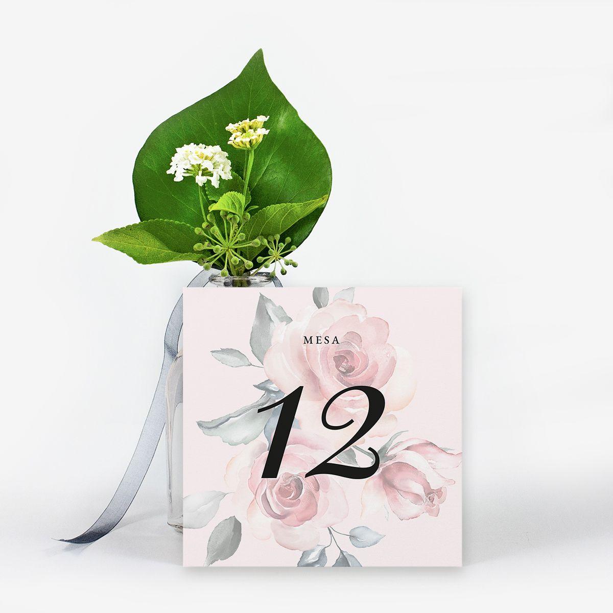 Número mesa boda Noa