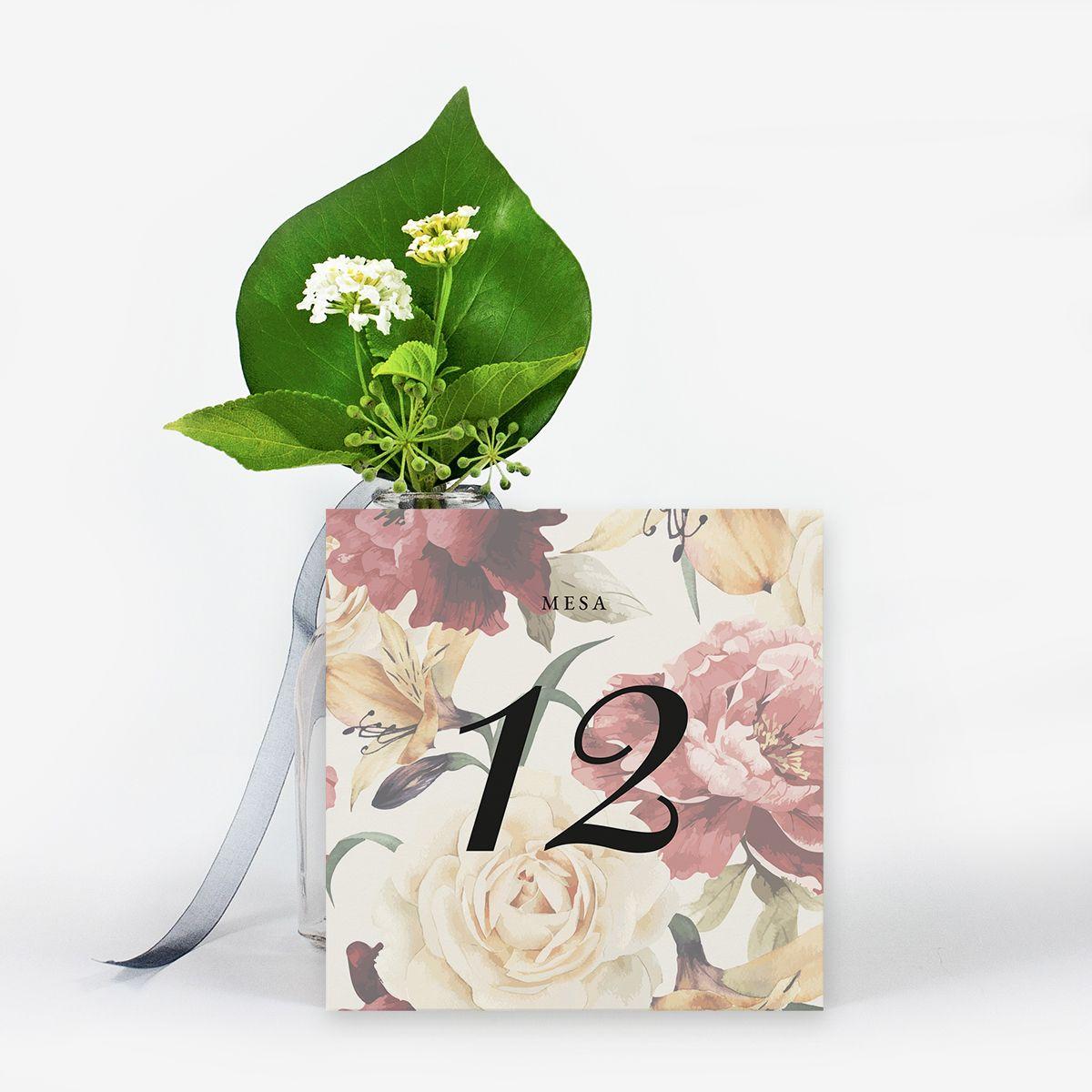Número mesa boda Rosalia