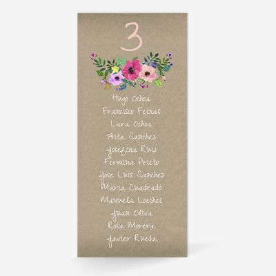 Plan de mesa (Seating plan) boda Atenas