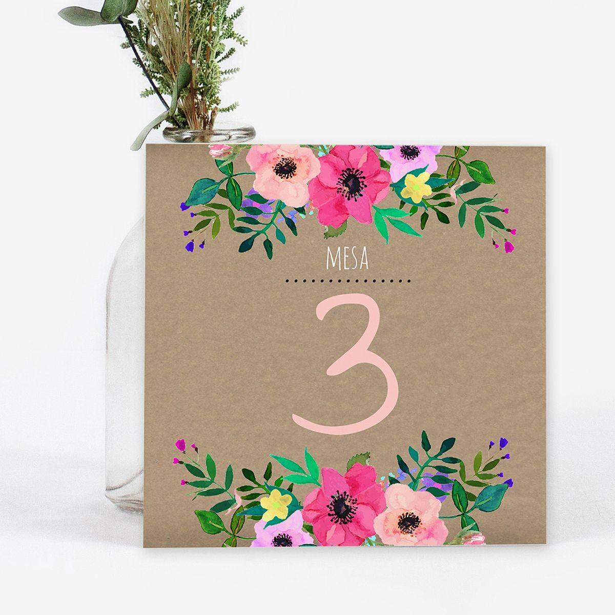 Número mesa boda Atenas