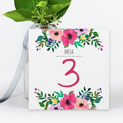 Número mesa boda Renata