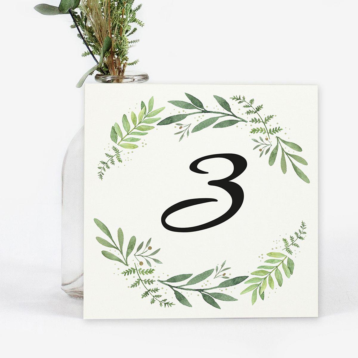 Número mesa boda Olivo Miss