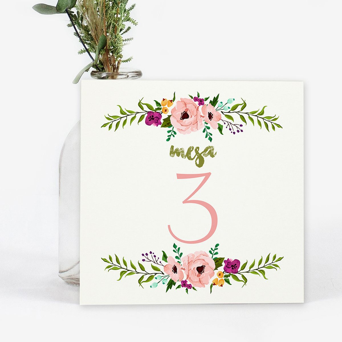 Número mesa boda Amina