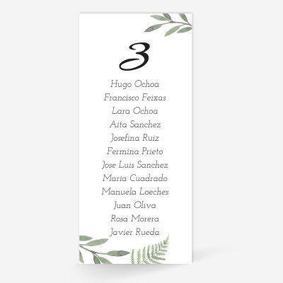 Plan de mesa (Seating plan) boda Chic Mediterranean