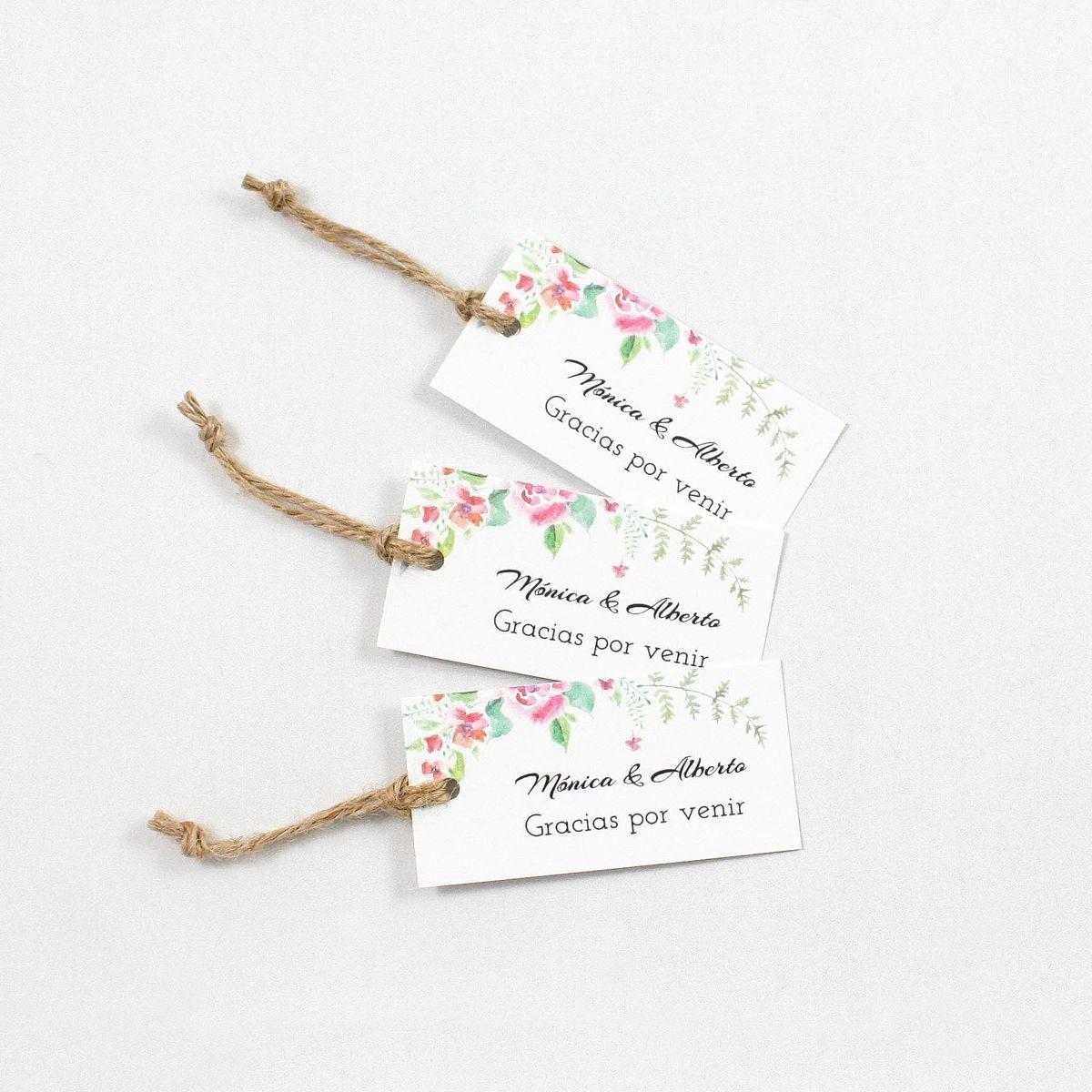 Etiqueta boda Chic garden