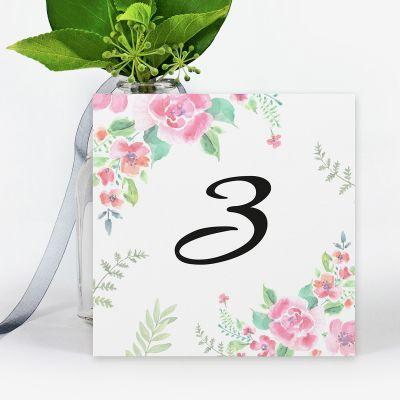 Número mesa boda Chic Garden