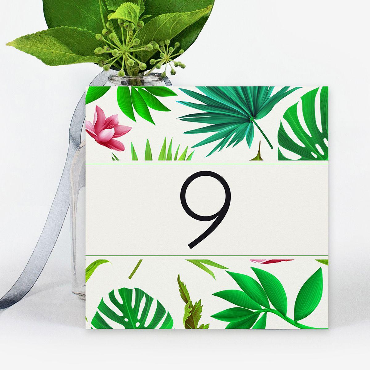 Número mesa boda Tropical