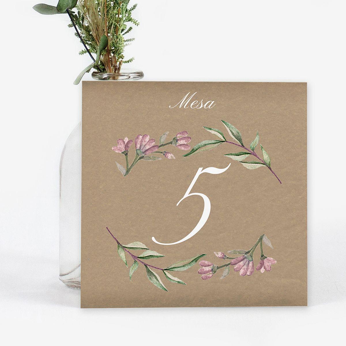 Mesero boda Blooms Kraft