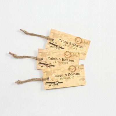 Etiqueta boda Typewriter Vintage Pass