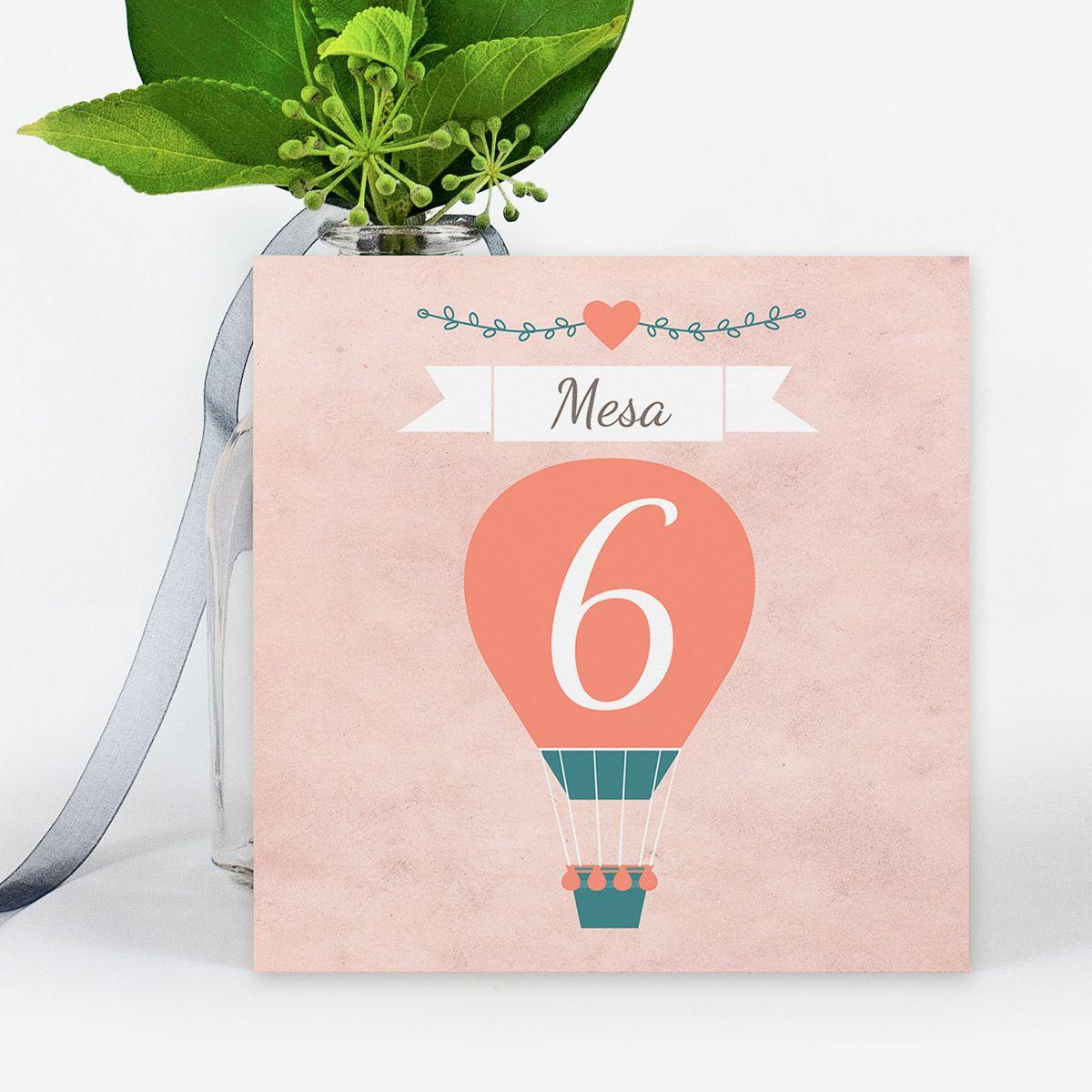 Número mesa boda Aire de Amor