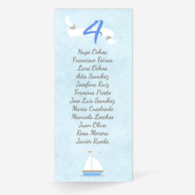 Plan de mesa (Seating plan) boda Mar