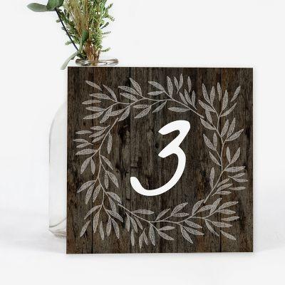 Número mesa boda Berta