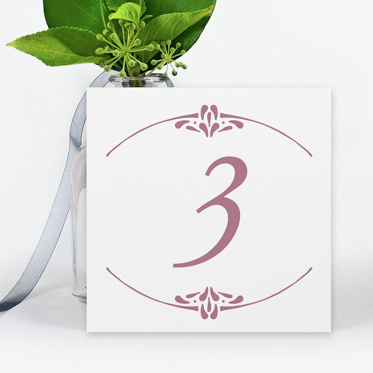 Número mesa boda Ada