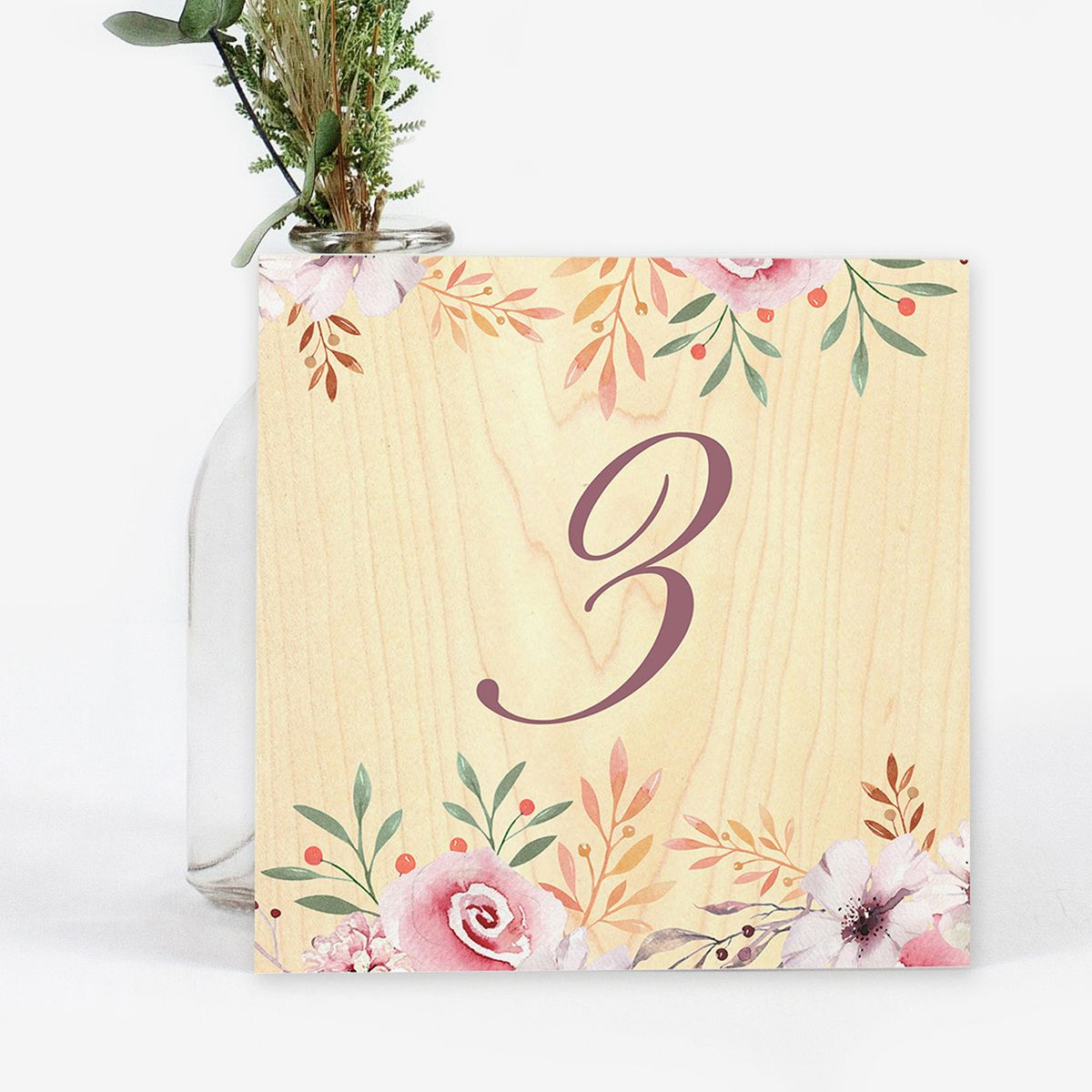 Número mesa boda Woodona